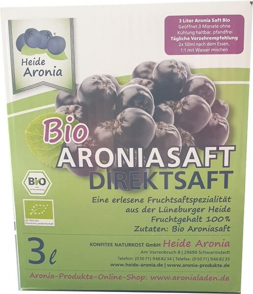 Aroniasaft Bio 3 Liter Bag in Box