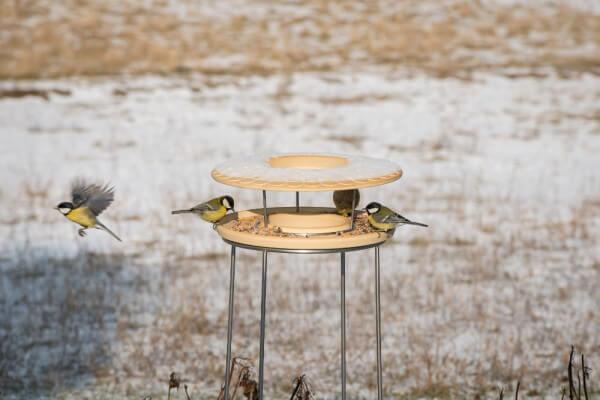 Set Futterhaus mit Ständer aus CeraNatur® Keramik (FUH+ST)