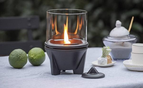 Schmelzfeuer Indoor CeraLava mit Windglas-Aufsatz ~ SFCI+WLA