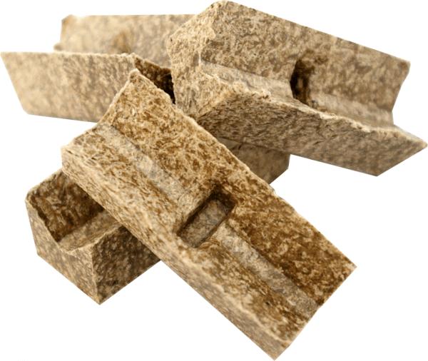 Zündblock Feueranzünder für Grill & Kamin ~ Umweltfreundlich aus recyceltem Altpapier und Wachs