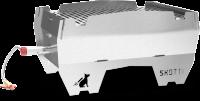 SKOTTI Grill aus Edelstahl inkl. Gasschlauch mit Regulator