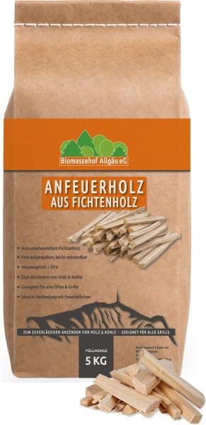 Premium Anzündholz - Anfeuerholz aus Fichtenholz in 5kg Papiersack