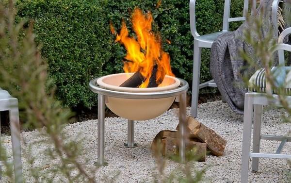Feuerfreund - Feuerschale aus CeraFlam® Keramik und Edelstahlständer - FEF