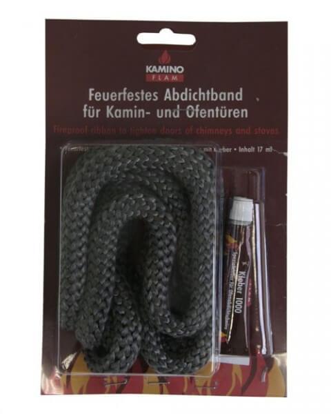 Kamindichtungen Ø 14 mm x 2m inkl. feuerfestem Kleber