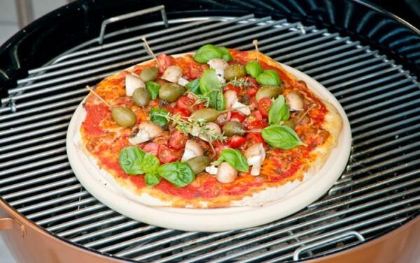 Pizzaplatte aus CeraFlam® Keramik Ø 34 cm - Für Backofen und Kugelgrill - PIP