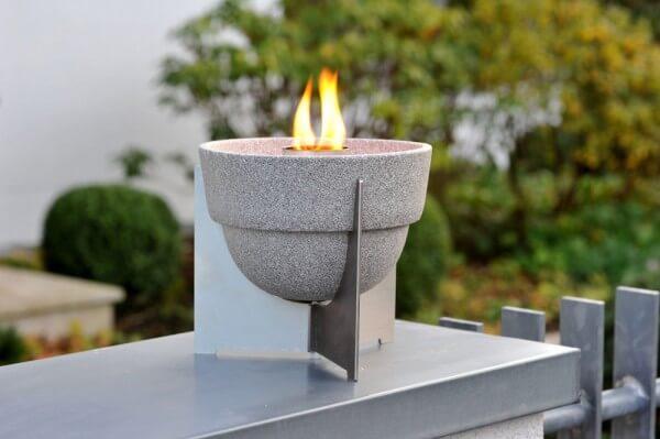 Schmelzfeuer Outdoor L Granicium mit Deckel und Fuß aus Edelstahl - SLG