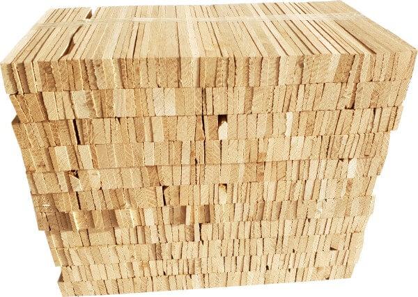 Premium Anzündholz - Anfeuerholz aus unbehandelter Eiche in 8kg Bündel