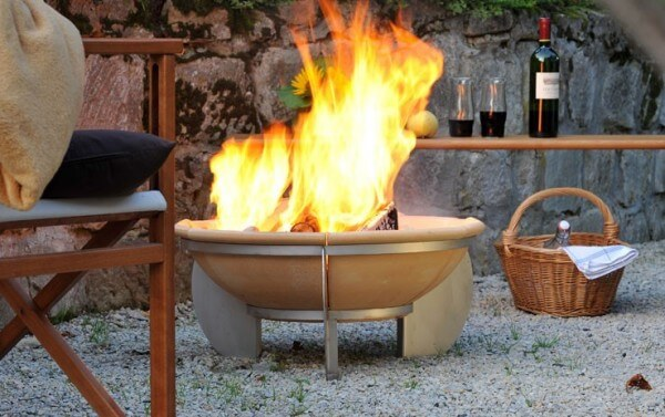 Feurio Feuerschale aus CeraFlam® Keramik mit Edelstahlgestell - FEU