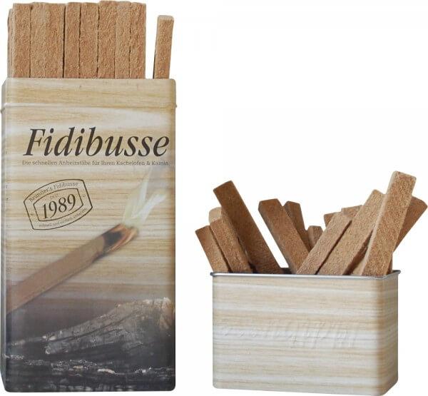 3x Brunner Fidibusse in nostalgischer Blechdose ~ 150 Anzünder
