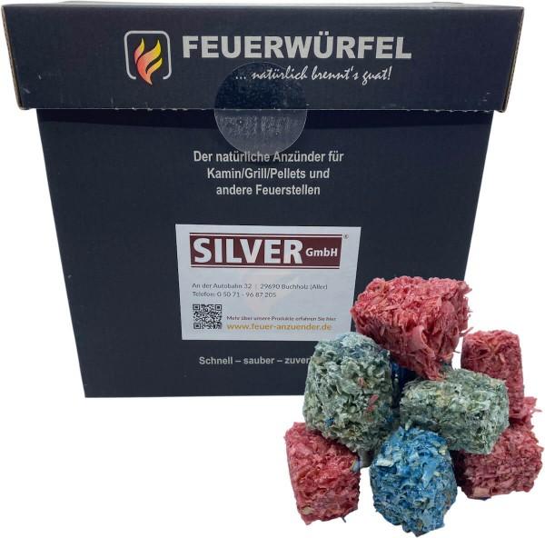 12x 1kg bunte Feuerwürfel für Kamin & Ofen & Grill